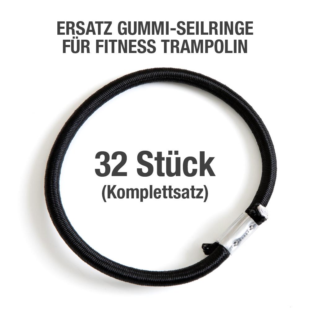 32 St. GUMMI-SEILRINGE -KOMPLETTSATZ (FLEXI-SPORTS Basic Trampolin)