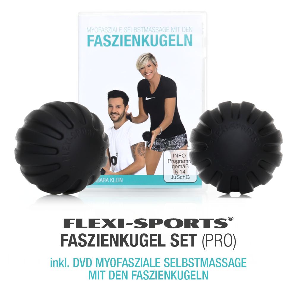 FLEXI-SPORTS FASZIENKUGEL-SET PRO + DVD