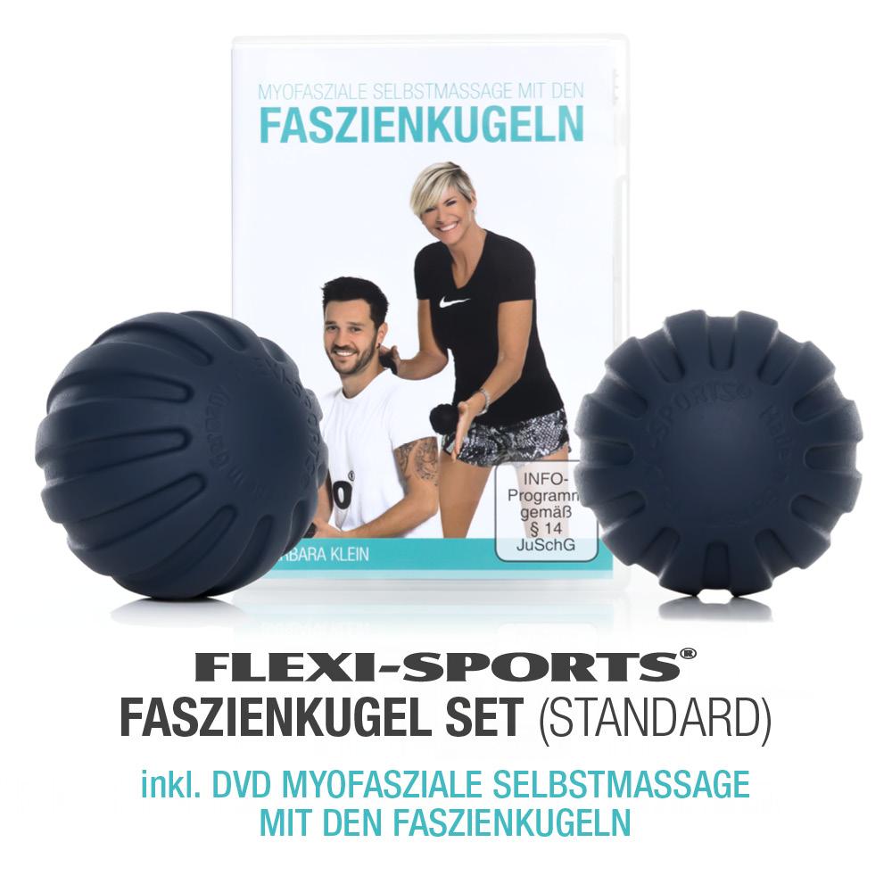 FLEXI-SPORTS FASZIENKUGEL-SET STANDARD + DVD