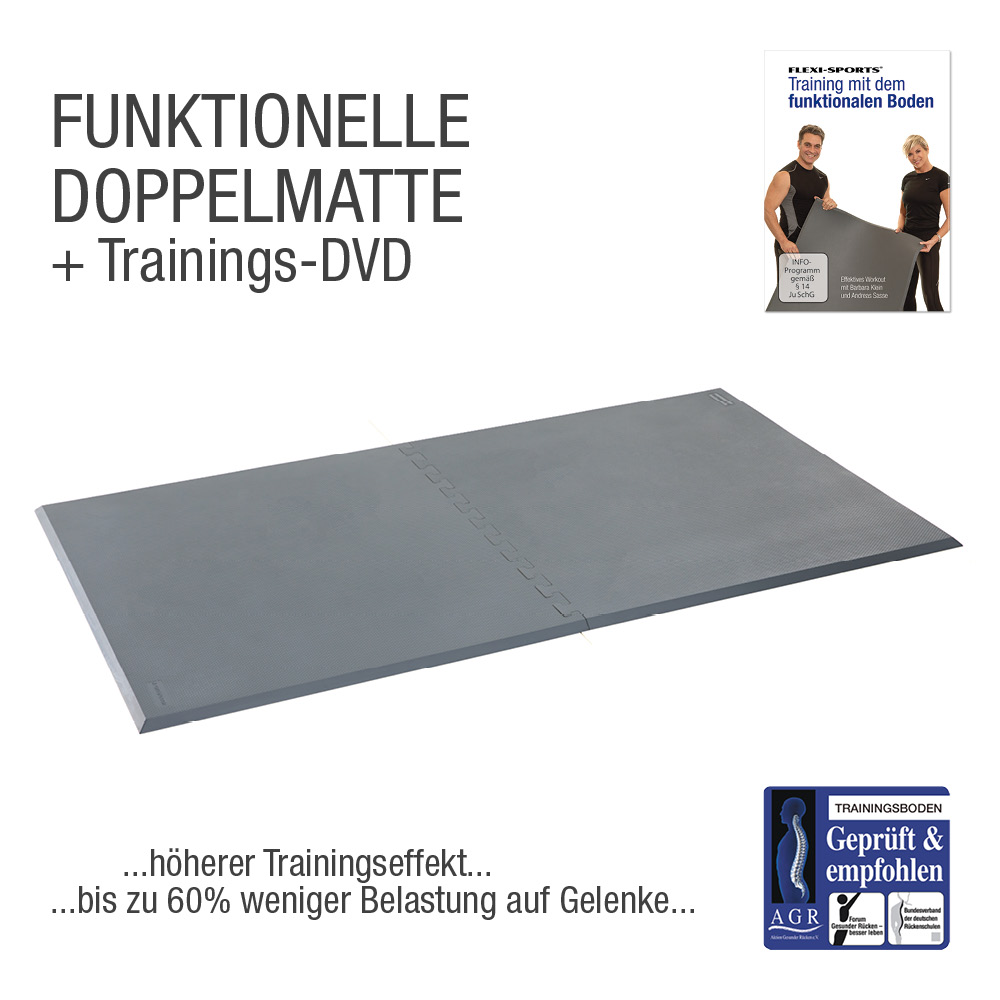FUNKTIONELLE DOPPELMATTE - Grau
